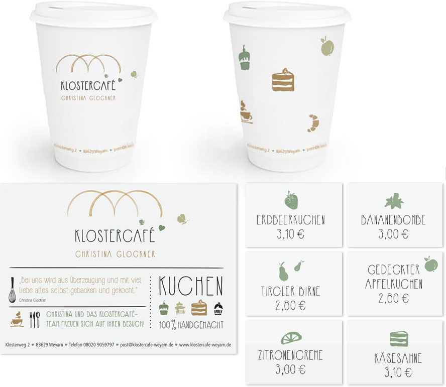 Klostercafe Coffe-to-go Becher